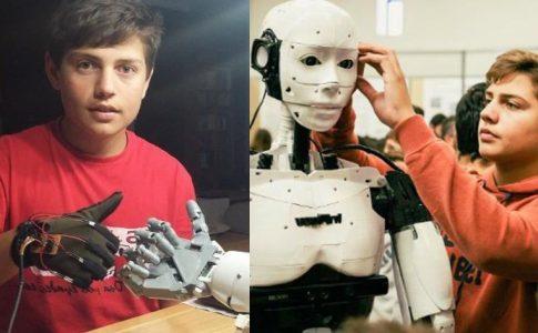 μαθητής και ρομπότ